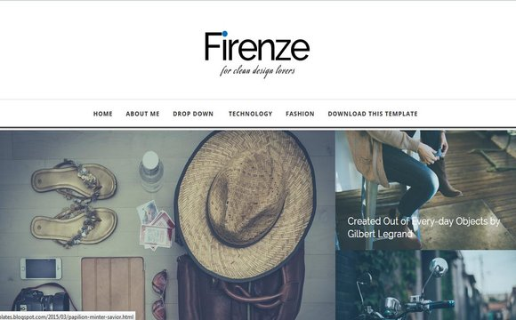 Firenze Fashion Blogger Template