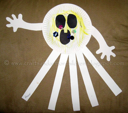 Preschool Craft Ideas on Crafts N Things For Children  Paper Plate Ghost  A Preschool Halloween