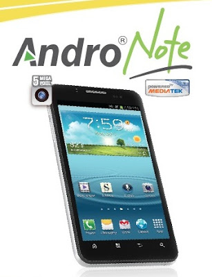 Pixcom Andro Note 2, Phablet Android ICS Murah,Prosesor Dual Core