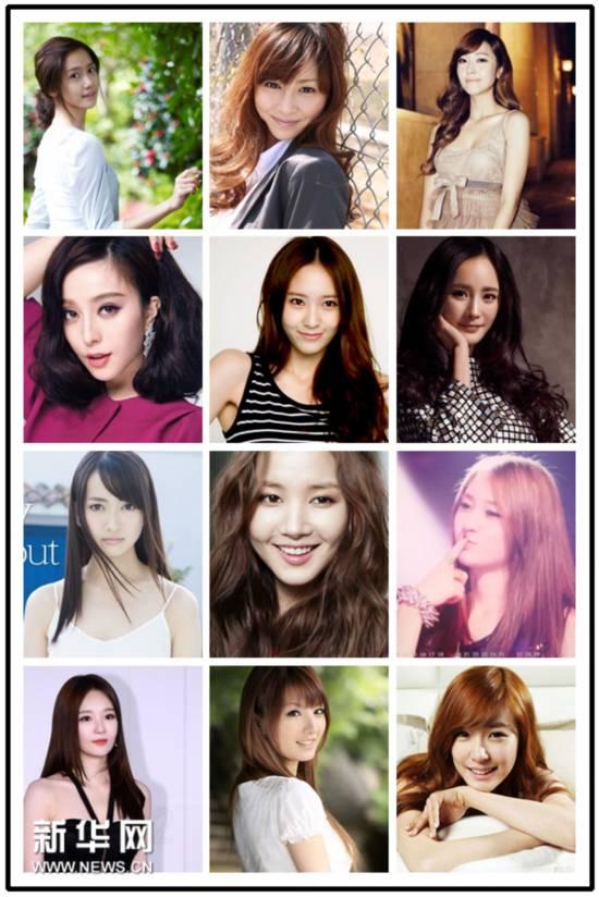 亞洲最美女神票選