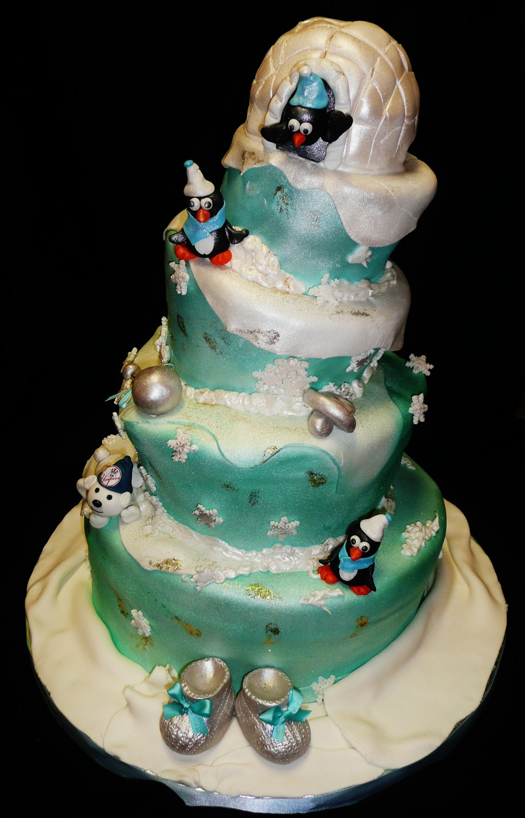 Winter Wonderland Baby Shower Themed Cake
