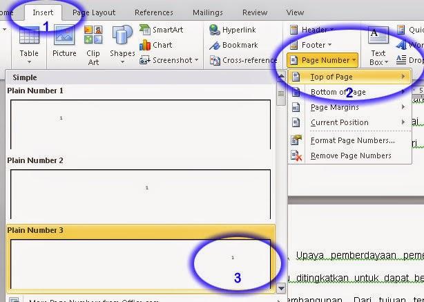 Membuat nomor halaman berbeda pada office 2007 dan 2010   J