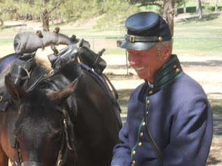 Civil War Cavalry officer and mount