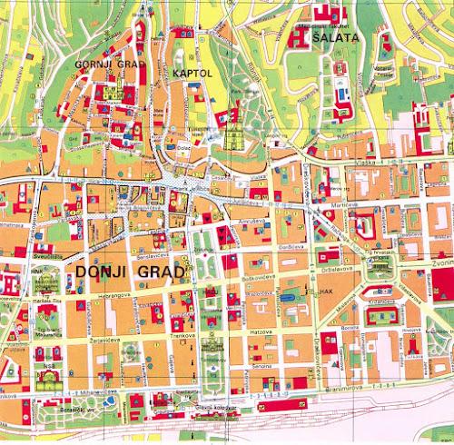 Zagreb tourist map