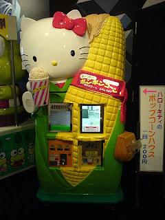 Hello Kitty popcorn snacks vending machine