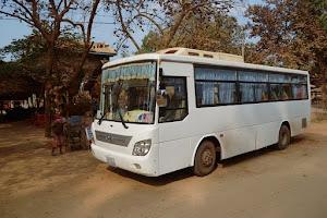 Автобусное сообщение в Камбодже. Дорога в Пномпень