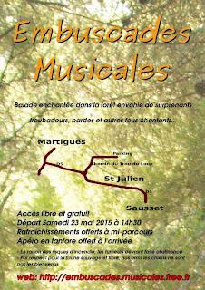 Plan d'accès aux Embuscades Musicales 2015