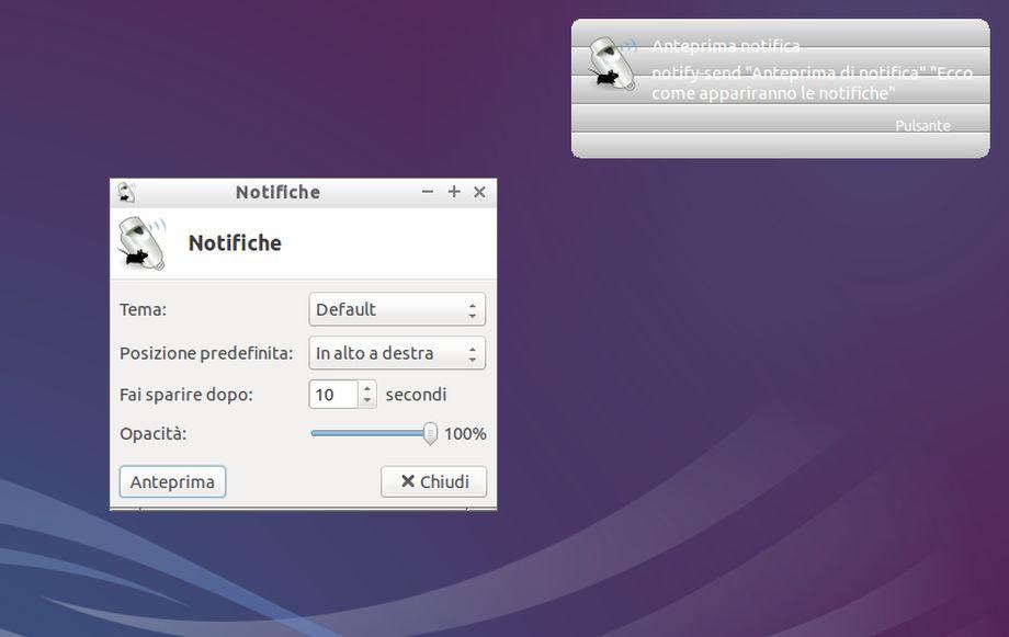 Lubuntu - xfce4-notifyd-config