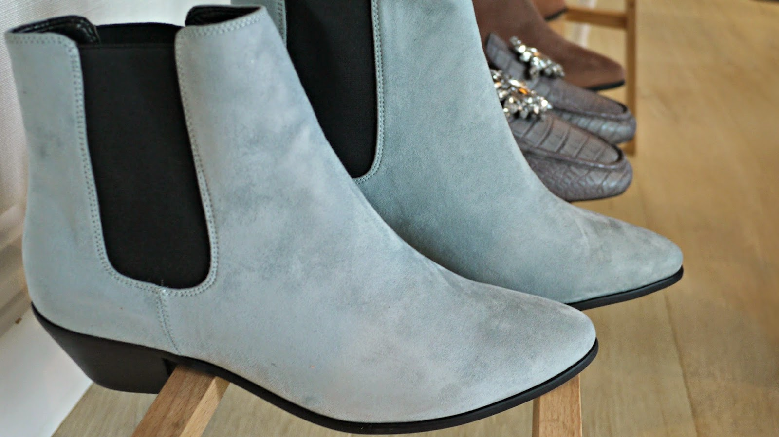 Next AW14 mint green chelsea boots