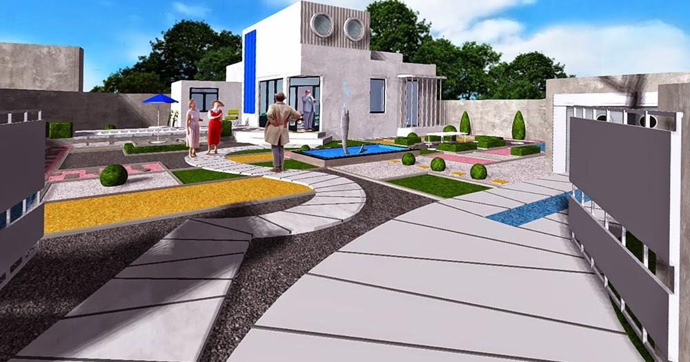 Korzen is in the garden villa arpel simulation en unity for Simulation maison 3d