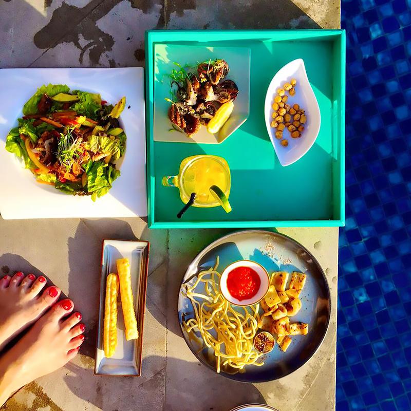 Lunch by the pool, Padma Resort Legian, Bali
