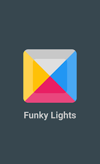 Screenshots of the Funky lights for Android tablet, phone.