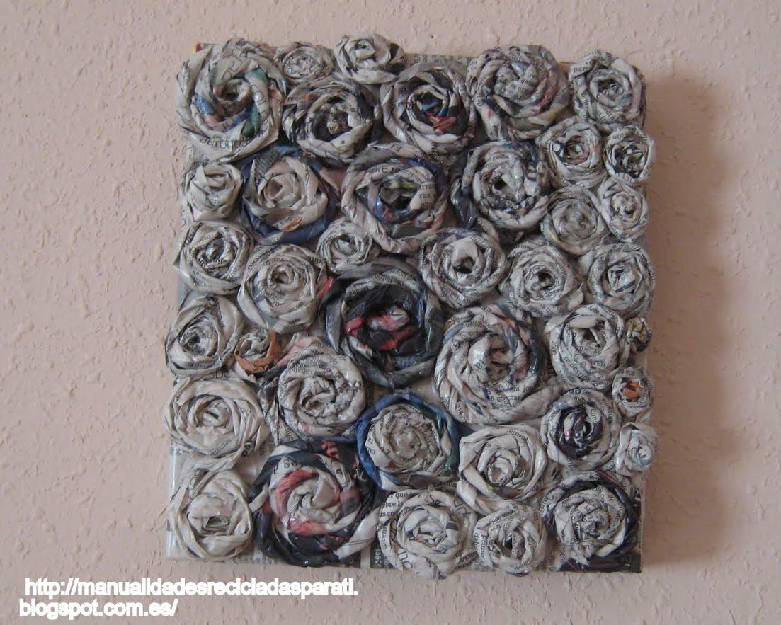 Handmade manualidades paso a paso cuadro decorativo con papel de peri dico ii - Manualidades con papel periodico paso a paso ...