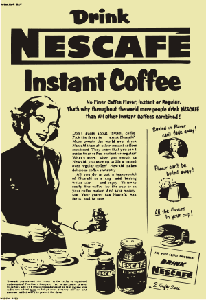 Nescafe Coffee Retro Vector