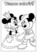 Desenho da Minnie e do Mickey para colorir (desenho da minnie mickey para colorir pintar disney ie lindas imagens ideia criativa)