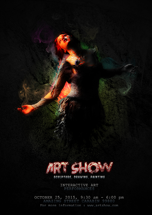 Photoshop Tutorial Poster Art Show