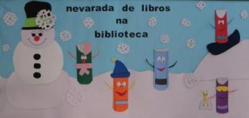 Nevarada de libros na biblioteca