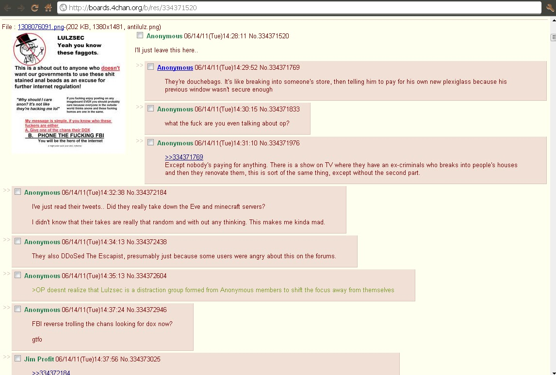 4chan amp; Anonymous. The Dark secret: June 2011