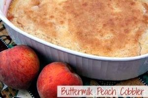 Buttermilk Peach Cobbler