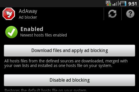 Hilangkan Iklan Pada Android AdAway
