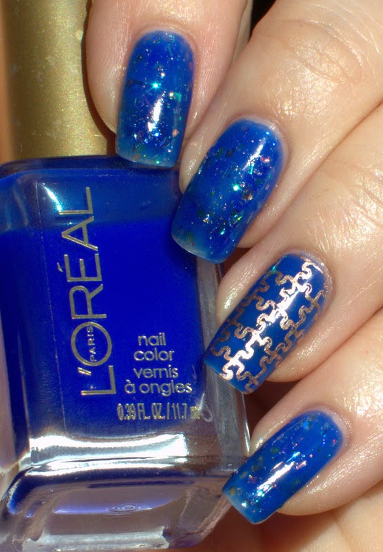L'oreal Miss Pixie with Cirque Magic Hour and Essie Penny Talk stamping
