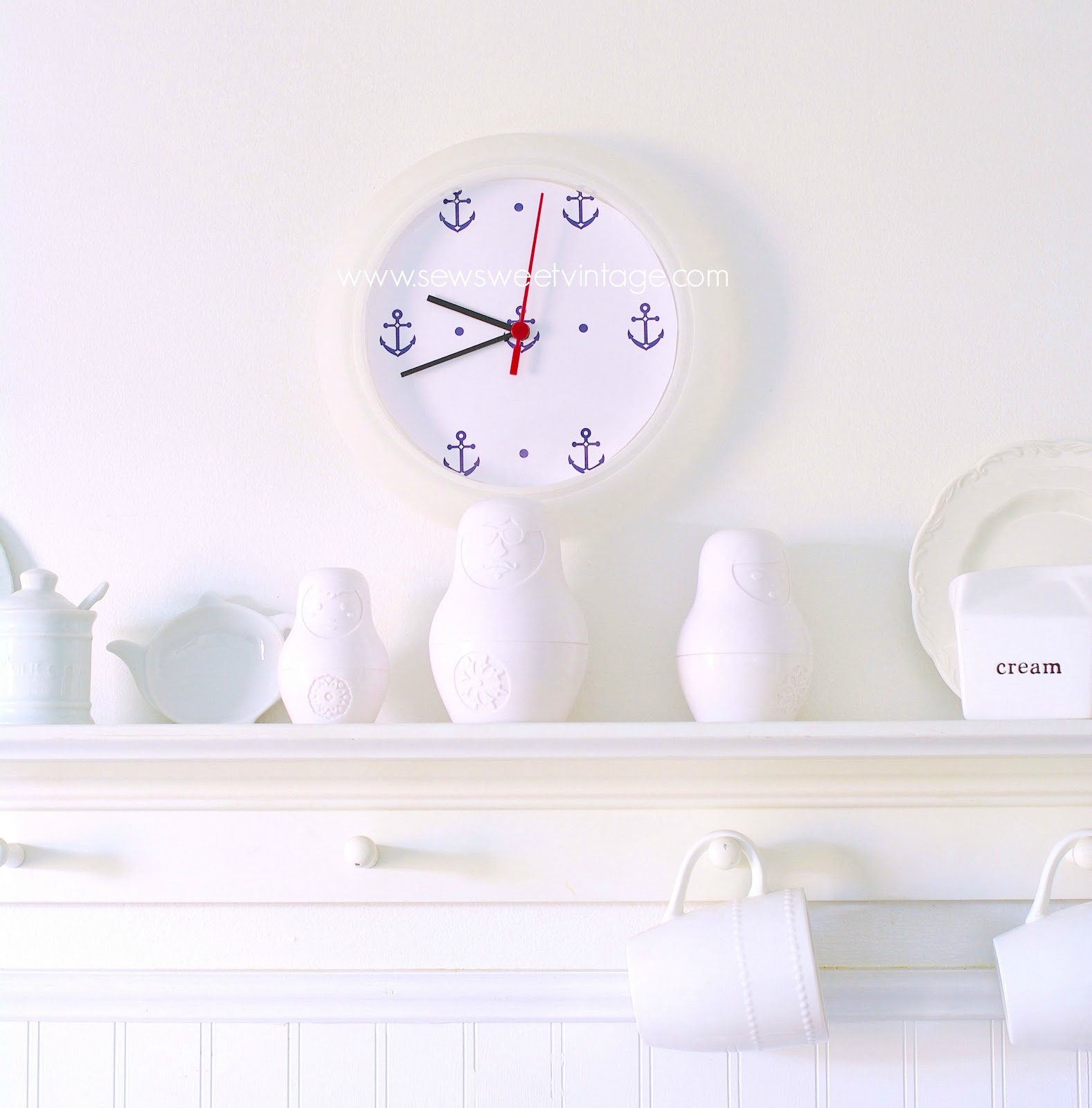 Sew sweet vintage anchor clock anchor clock amipublicfo Images