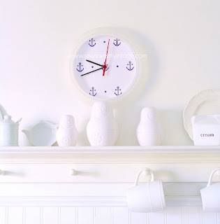 how to make your own DIY anchor clock with a free anchor printable