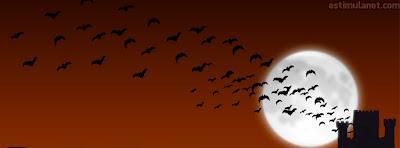 capas para o Facebook halloween, castelos e morcegos