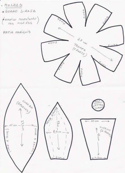 Gorros de goma eva moldes - Imagui