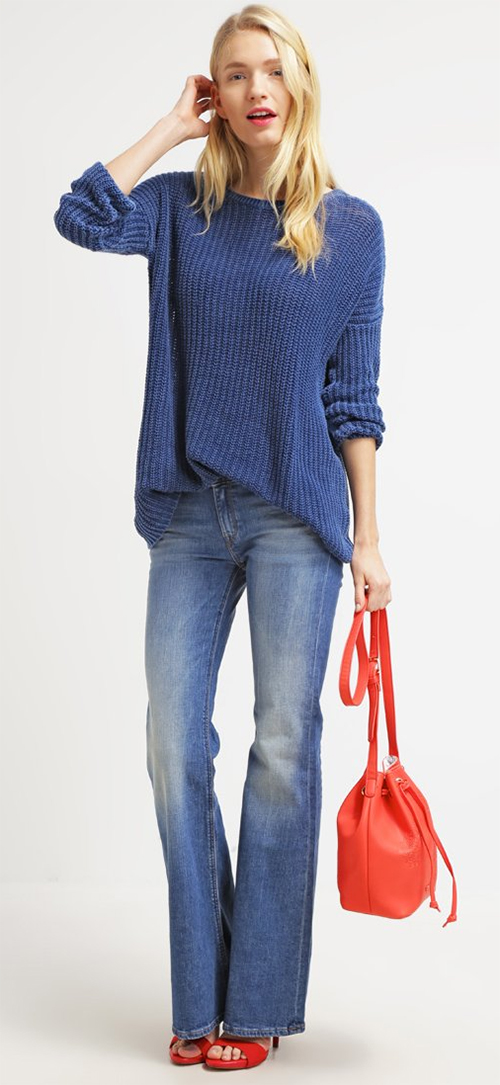 Pullover femme bleu indigo LTB