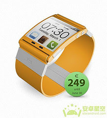 Android Access Microblogging, Colorful Watch Yellow Microblogging