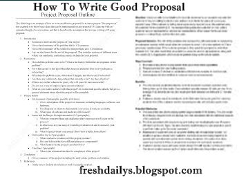 How to draft a proposal for a project