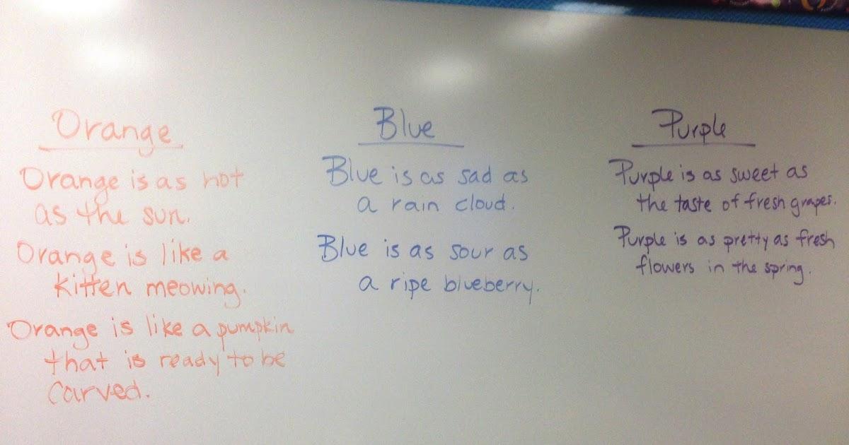 Fabulous Fun in 4th Grade: Simile Writing