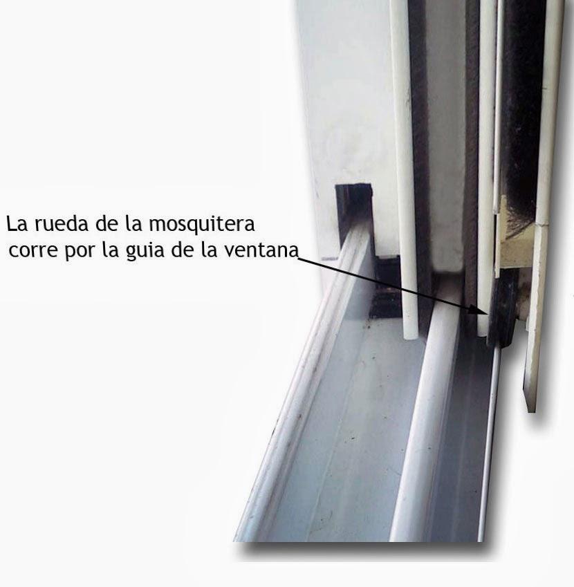 Cambiar ruedas ventana aluminio finest stunning elegant for Correderas de aluminio