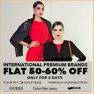 Jabong: Buy International Premium Brand Women's Clothings Flat 50% to 60% off from Rs. 593