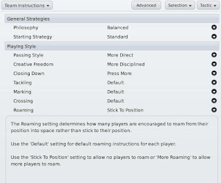 Football Manager 2011 Team Instructions