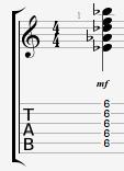 Eb11 Guitar Chord