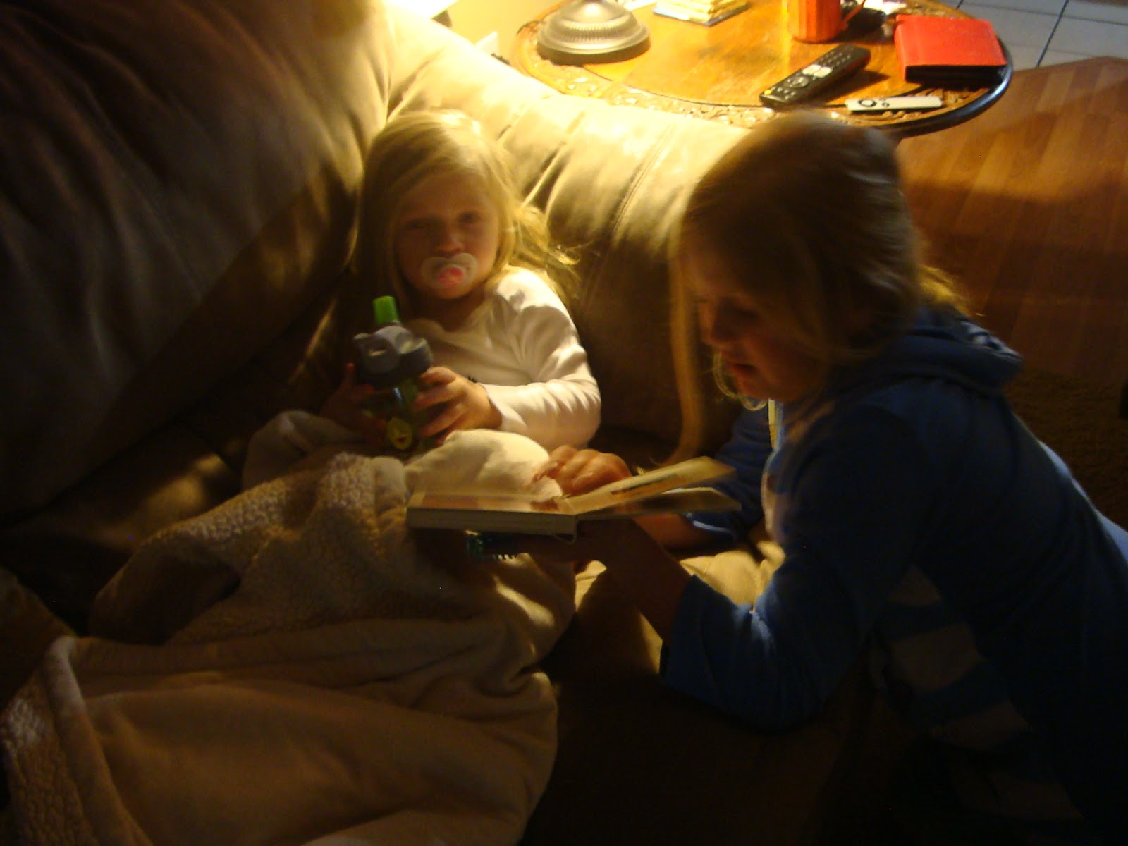 Sissy reading rea a bed time story