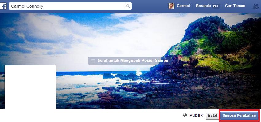 Cara Ganti Foto Sampul Facebook | Perbarui Foto Sampul