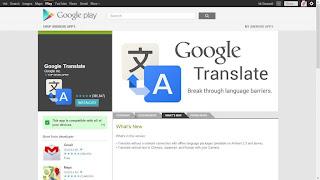 Google Translate Versi Offline Untuk Android