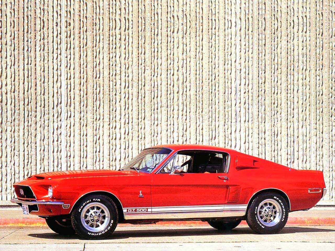 1968 Red Shelby Mustang