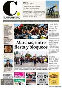 05/12/2019 PRIMERA PAGINA DE EL COLOMBIANO DE COLOMBIA