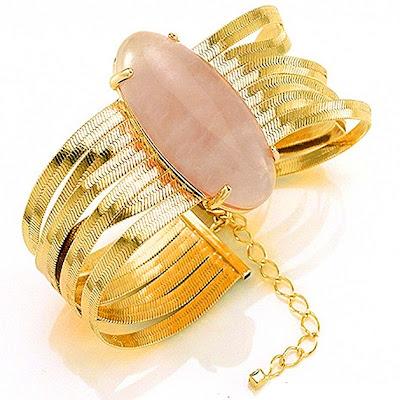 pulseira pedra rosa