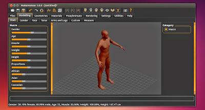 Make Human 3D rodando no Ubuntu