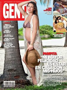 Revista GENTE. Tapa Pampita embarazada. 19 de Agosto de 2014.