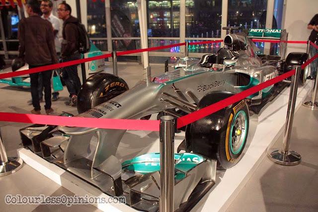 mercedes amg petronas f1 car 2015 malaysia grand prix launch klcc