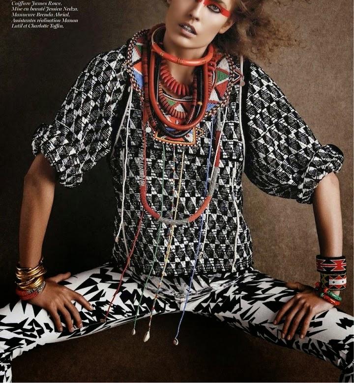 Nadja Bender by Giampaolo Sgura for Vogue Paris May 2014