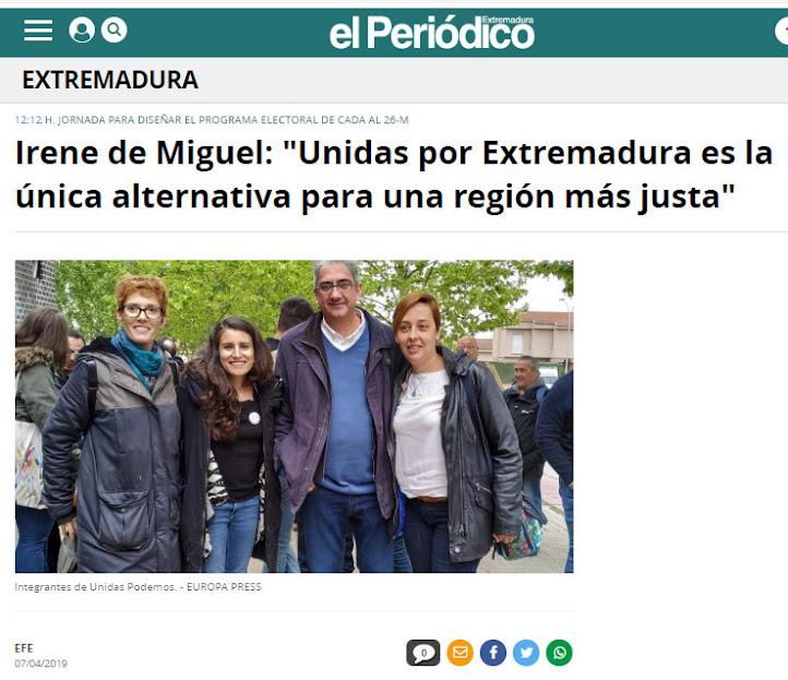Unidas por Extremadura: IU. Podemos. Equo