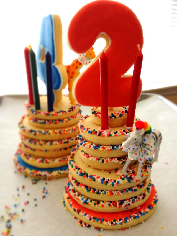 Dough and Batter circus themed birthday cookie cakes