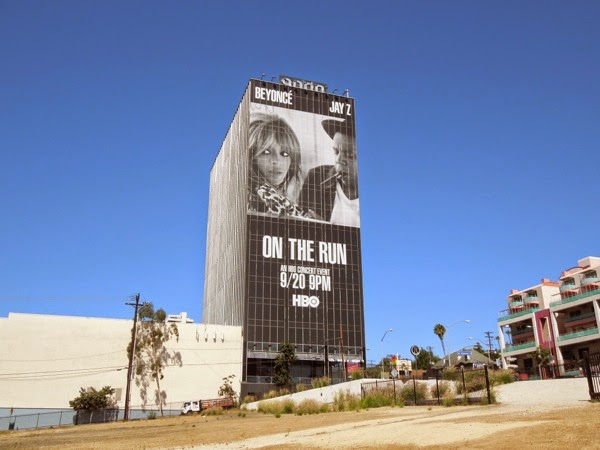 Beyoncé and Jay Z On The Run HBO concert billboard